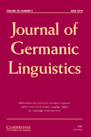 Journal of Germanic Linguistics Volume 30 - Issue 2 -