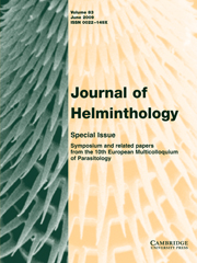Journal of Helminthology Volume 83 - Issue 2 -  Symposium and related papers from the 10th European Multicolloquium of Parasitology