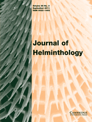 Journal of Helminthology Volume 85 - Issue 3 -