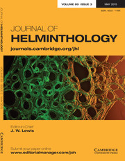 Journal of Helminthology Volume 89 - Issue 3 -