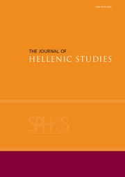 The Journal of Hellenic Studies Volume 133 - Issue  -