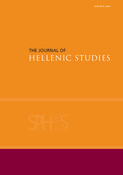 The Journal of Hellenic Studies Volume 134 - Issue  -