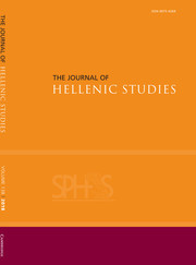 The Journal of Hellenic Studies Volume 138 - Issue  -