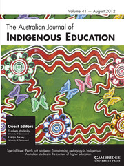 The Australian Journal of Indigenous Education Volume 41 - Issue 1 -  Pearls not problems: Transforming pedagogy in Indigenous Australian studies in the context of higher education