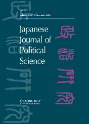 Japanese Journal of Political Science Volume 6 - Issue 3 -