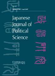 Japanese Journal of Political Science Volume 8 - Issue 1 -