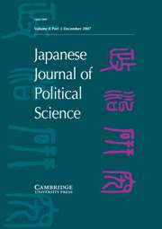 Japanese Journal of Political Science Volume 8 - Issue 3 -