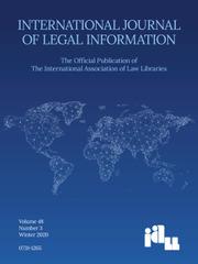 International Journal of Legal Information Volume 48 - Issue 3 -