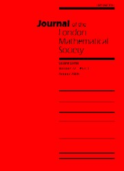 Journal of the London Mathematical Society Volume 72 - Issue 1 -
