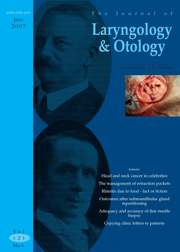 The Journal of Laryngology & Otology Volume 121 - Issue 6 -