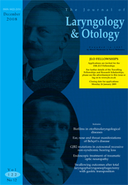 The Journal of Laryngology & Otology Volume 122 - Issue 12 -