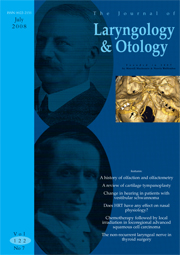 The Journal of Laryngology & Otology Volume 122 - Issue 7 -