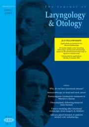 The Journal of Laryngology & Otology Volume 123 - Issue 1 -