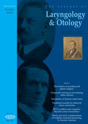 The Journal of Laryngology & Otology Volume 123 - Issue 10 -