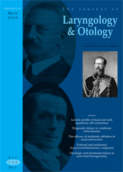 The Journal of Laryngology & Otology Volume 123 - Issue 3 -