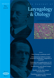 The Journal of Laryngology & Otology Volume 123 - Issue 5 -