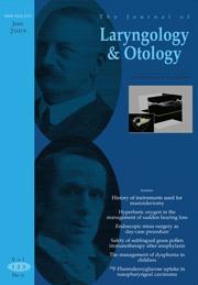 The Journal of Laryngology & Otology Volume 123 - Issue 6 -
