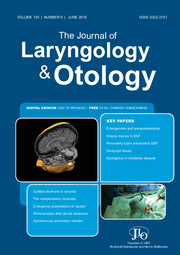 The Journal of Laryngology & Otology Volume 130 - Issue 6 -