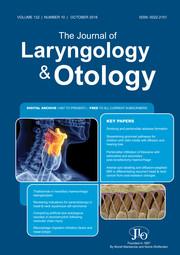 The Journal of Laryngology & Otology Volume 132 - Issue 10 -