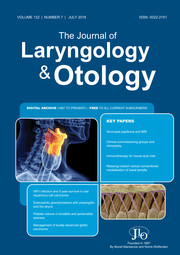 The Journal of Laryngology & Otology Volume 132 - Issue 7 -