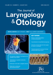 The Journal of Laryngology & Otology Volume 132 - Issue 8 -