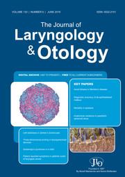 The Journal of Laryngology & Otology Volume 133 - Issue 6 -