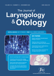 The Journal of Laryngology & Otology Volume 134 - Issue 12 -