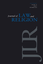 Journal of Law and Religion Volume 33 - Issue 3 -