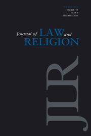Journal of Law and Religion Volume 35 - Issue 3 -