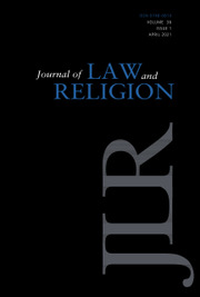 Journal of Law and Religion Volume 36 - Issue 1 -
