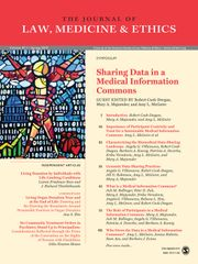 Journal of Law, Medicine & Ethics Volume 47 - Issue 1 -  Sharing Data in a Medical Information Commons