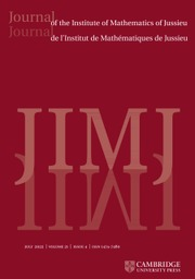 Journal of the Institute of Mathematics of Jussieu