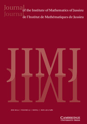 Journal of the Institute of Mathematics of Jussieu Volume 13 - Issue 3 -