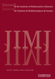 Journal of the Institute of Mathematics of Jussieu Volume 14 - Issue 3 -