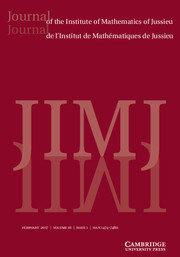 Journal of the Institute of Mathematics of Jussieu Volume 16 - Issue 1 -