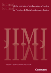 Journal of the Institute of Mathematics of Jussieu Volume 17 - Issue 3 -