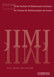 Journal of the Institute of Mathematics of Jussieu Volume 20 - Issue 3 -