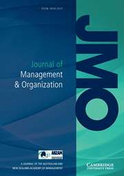 Journal of Management & Organization | Cambridge Core
