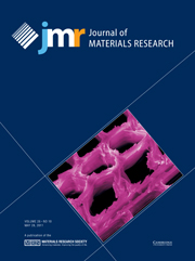 Journal of Materials Research Volume 26 - Issue 10 -