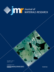 Journal of Materials Research Volume 26 - Issue 11 -