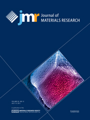 Journal of Materials Research Volume 26 - Issue 13 -