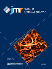 Journal of Materials Research Volume 26 - Issue 17 -  Focus Issue: Nanowires: Fundamentals and Applications