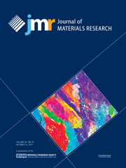 Journal of Materials Research Volume 26 - Issue 19 -