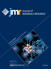 Journal of Materials Research Volume 26 - Issue 2 -  Focus Issue: Self-Assembly and Directed Assembly of Advanced Materials