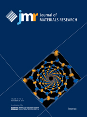 Journal of Materials Research Volume 26 - Issue 22 -