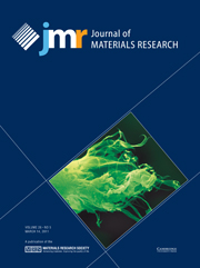Journal of Materials Research Volume 26 - Issue 5 -