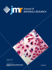 Journal of Materials Research Volume 26 - Issue 6 -