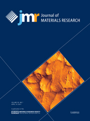 Journal of Materials Research Volume 26 - Issue 7 -