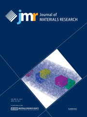 Journal of Materials Research Volume 26 - Issue 8 -