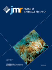 Journal of Materials Research Volume 26 - Issue 9 -